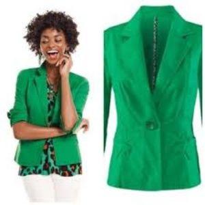 Cabi Verde Jacket Kelly Green Blazer #5097